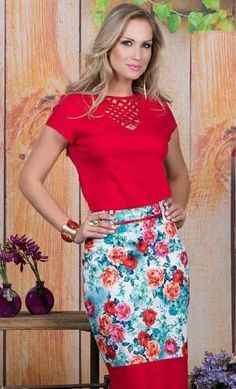 1005 likes 14 comments Floral Fashion, Red Fashion, Skirt Fashion, Modest Fashion, Fashion Outfits, Womens Fashion, Modest Outfits, Dress Outfits, Casual Dresses