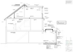 Drawing Portfolio - Selby Design Loft Conversion Drawings, Loft Conversion Rooms, Loft Conversions, 1930s House Extension, Roof Extension, Roof Architecture, Architecture Details, Loft Dormer, House Roof Design