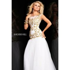 Sherri Hill 2981 Ivory Prom Dress