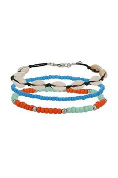 Shell and Bead Anklet Pack