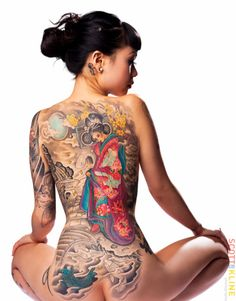 Japanese Full Back Tattoo...   Absolutely Beautiful..!