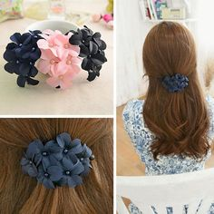 Fabric Flower Hair Clip Claw Clamp Barrette Charm women Girl Hair Accessories #Unbranded # #