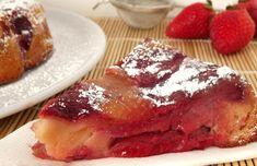 Moelleux léger aux pommes et aux fraises WW, recette d'un délicieux gâteau aux pommes et fraises fondantes facile et simple faire pour un dessert ou un goûter gourmand.