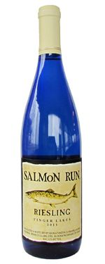 Salmon Run Riesling - displays beautiful floral, pear and apple flavors that are enhanced by a steely acidic backbone.