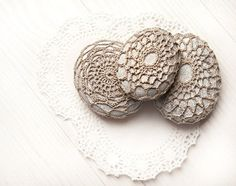 Set of 3 Crochet Covered Stones Valentine's by LittleKnittedThing, $65.00