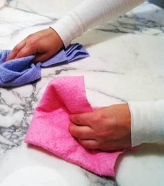 How to clean marble: baking soda and microfiber cloth-damp with warm water- make sure to dry immediately