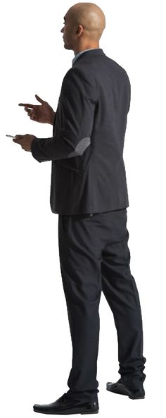 cutout man standing hands