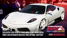 See incredible cars at the Hi-Performance Expo, Nov 1-3 at Circuit of the Americas in Austin, Texas