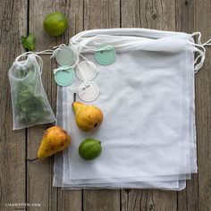 Get farmer's market ready with our sewing tutorial for reusable produce bags! You will feel great about using less plastic and proud of the project you made