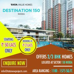 Project By The King Of Real Estate #TataValueHomes #TataDestination150Noida. To know more, https://tatanewprojects.wordpress.com/2017/02/22/project-by-the-king-of-real-estate-tata-value-homes/