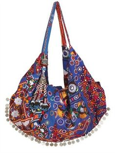 ShopStyle: Simone Camille - Moon Bag Patchwork Canvas Tote