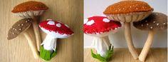 Felt mushroom tutorial