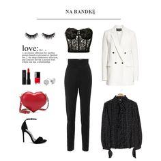 Tablica inspiracji z naszą piękną koszulą w kropki Polly Black Polyvore, Fashion, Moda, Fashion Styles, Fashion Illustrations