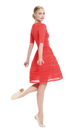 Loving the new Repetto Garde-Robe line for women. Especially this ballerina dress in red.