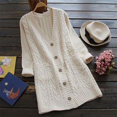 Full Exposure Twist Long Sweater Cardigan