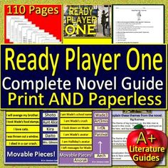Digital Resource - 160 page/slide Common-Core aligned novel study guide for Ready Player One by Ernest Cline. It can be used with or without Google Drive (Paperless OR Print and Go) Both versions are included with your purchase. This guide can be used as a Print and Go, but also utilizes Google Docs for