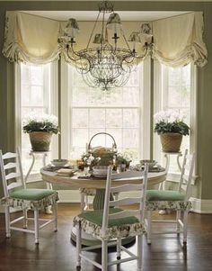Cozy In Connecticut Bay Window KitchenKitchen CurtainsWindow CurtainsBurlap CurtainsKitchen NookKitchen IdeasDining Room