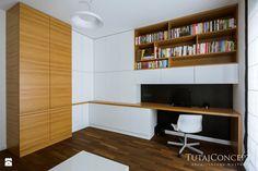 Wystrój wnętrz - Gabinet - pomysły na aranżacje. Projekty, które stanowią prawdziwe inspiracje dla każdego, dla kogo liczy się dobry design, oryginalny styl i nieprzeciętne rozwiązania w nowoczesnym projektowaniu i dekorowaniu wnętrz. Obejrzyj zdjęcia! - strona: 2 Corner Desk, Bookcase, Shelves, Furniture, Home Decor, Design, Corner Table, Shelving, Decoration Home