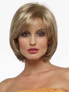 Chin Length Straight Blonde Capless Bob Haircut Wigs,a sophisticated hairstyle you will fall in love with. Medium Hair Cuts, Short Hair Cuts, Medium Hair Styles, Curly Hair Styles, Pixie Cuts, Best Bob Haircuts, Choppy Bob Hairstyles, Straight Hairstyles, Wig Hairstyles