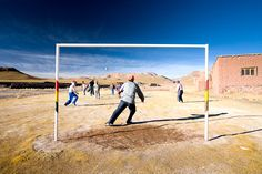 Football [Soccer] at 5,000 miles above sea-level. Bolivia. Tom Robinson Travel Photography: South America