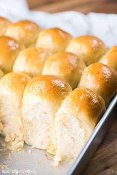 Mamaw's Rolls fresh out of the oven and brushed with melted butter