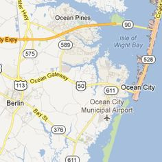 Ocean City Md map Places Ive TRAVELED Pinterest Ocean city md