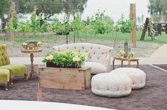 photography: Aaron Young Photography // event design + planning: Constance Curtis Events // floral design: JL Designs and Events from Outdoor California Wedding with Creative Florals: Alyssa + Ben
