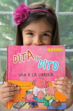 31 Days of Reading in Spanish: Dita y Dito Van a la Librería - SpanglishBaby.com