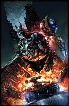 Batman: Arkham Knight collector's edition art by Jason Fabok