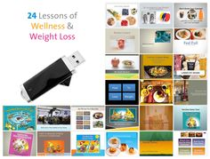 12 + 12 = 24 Lessons of Wellness and Weight Loss on Flash Drive