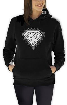 29.99$  Buy now - http://vihkw.justgood.pw/vig/item.php?t=jmosn126792 - Diamond Print Women Hoodie GRAPHIC SKATE URBAN INDIE YOLO Hip Hop DOPE SWAG