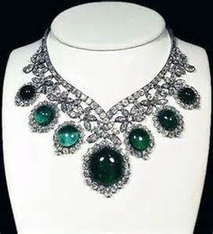 Elizabeth Taylor Emerald and Diamond Necklace