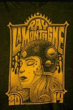 A Ray LaMontagne t-shirt design for 2014 Supernova tour.