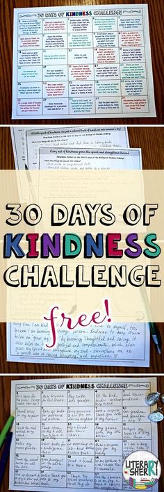 This ready to print-'n-go resource challenges students to perform 30 intentional acts of kindness in 30 days! Print it today and use it tomorrow to build a strong classroom community and help your students make a positive difference in their world! Teaching Kindness, Kindness Activities, Class Activities, Teaching Respect, Social Emotional Learning, Social Skills, Social Work, Classroom Organization, Classroom Management