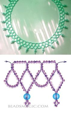 Free pattern for necklace Alexia