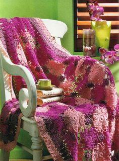 Delicadezas en crochet Gabriela: 5 Modelos de mantas tejidas