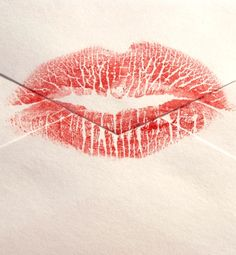 What Your Lip Print Says About You...  I may have to give this a try!  Could be fun!