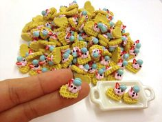 Miniature Food  Waffle heartcake topping macaron by SweetieTiny, $7.99