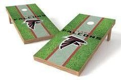 Atlanta Falcons Single Cornhole Board - Field