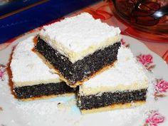 Nagyi titkai a házias ízekről receptekkel: Mákos pite Hungarian Cake, Hungarian Recipes, Poppy Cake, Cake Recipes, Dessert Recipes, Sweet Tooth, Cheesecake, Food And Drink, Cooking Recipes