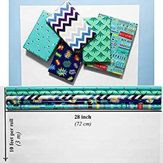 Amazon.com: Wrapping Paper 5 Roll 30 Inch X 10Feet Per Roll Design for Birthday Mother Day Valentines Day Wedding Baby Shower Blue Clouds Gull Cat Leopard Rings Triangles: Health & Personal Care Diy Christmas Wrapping Paper, Christmas Diy, Creative Gift Wrapping, Creative Gifts, Valentines Day Weddings, Blue Clouds, Blue Gift, Diy Paper, Graduation Gifts