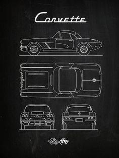 Chalkboard Drawings, Chalkboard Print, Car Lettering, Cool Car Drawings, Classic Corvette, Architecture Concept Drawings, Futuristic Cars, Window Art, Chalk Art