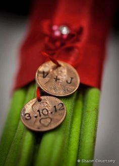 Custom Wedding Pennies  Set of 2  Featured in by SeizeTheNight