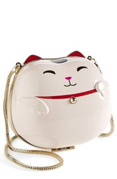 """""""Hello Tokyo"""" cat clutch by Kate Spade. Because you never outgrow Hello anything."""
