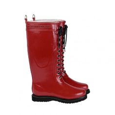 Ilse Jacobsen Handmade Rub & Rain boot - Long, Classic with laces.