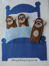 Cute quiet book ideas, funny face, trucks, monkeys jumping on the bed.  Darling.