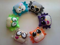 Felt Plush Owls -your choice of two-. $10.00, via Etsy.