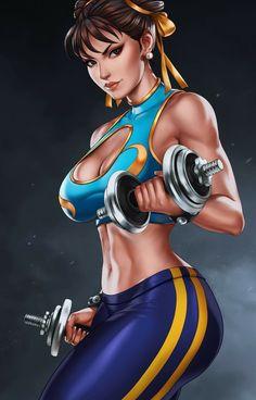 Chun-li _ Street Fighter V (Bikini version) by Sano-BR on DeviantArt Chun Li, Street Fighter Characters, Female Characters, Street Fighter Ryu, Anime Sensual, Creation Art, Street Fights, King Of Fighters, Comics Girls