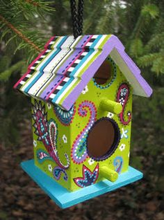 The Sum Of All Crafts: Altered birdhouses