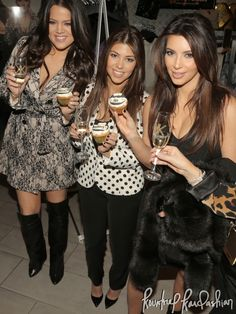 Kourtney Kardashian Kim Kardashian,  Khloe Kardashian-Odom at their Kardashian Kollection Launch for Dorothy Perkins in Westfield in London